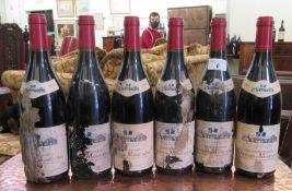 Wine: six bottles of 2002 Chassagne-Montrachet RAB