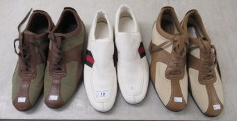 Ladies shoes, viz. three pairs of Gucci sportswear shoes approx.