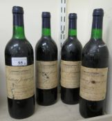 Wine: four bottles of 1997 Chateau Jonqueyres RAB