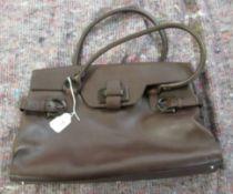 A Salvatore Ferragamo brown leather handbag LAM