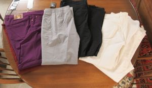 Eight pairs of ladies trousers: to include examples by Escada,
