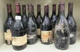 Wine: thirteen bottles of Chateau de la Gardine Benjamin Brunel mixed years OS4