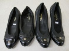 Ladies shoes, viz. two pairs by Channel sizes 7.