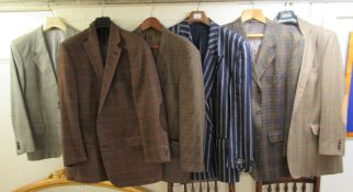 Six gentlemens Daks of London tweed and other blazers approx.