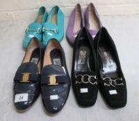 Ladies shoes, viz. four pairs by Salvatore Ferragamo approx.