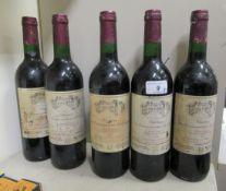 Wine: five bottles of 1998 Chateau la Commanderie de Queyret LAB