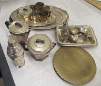 1930s and later EPNS and other metalware: to include an Art Deco,