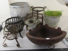 Early 20thC and later outdoor accessories: to include a rust coloured,