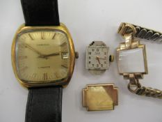 A Longines Conquest gold plated and stainless steel cased wristwatch,