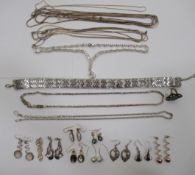 Silver and white metal designer jewellery: to include a Grosse choker,