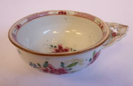 A late 18thC Chinese famille rose porcelain footed bleeding bowl,