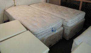Two single Vispring single mattresses,