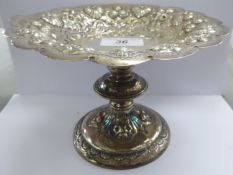 A Walker & Hall silver comport, decorated with shells,