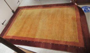 A German woollen rug,