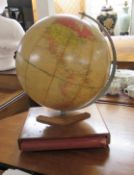 A Phillips Challenge 16''dia globe on 1:37,500,000 scale,