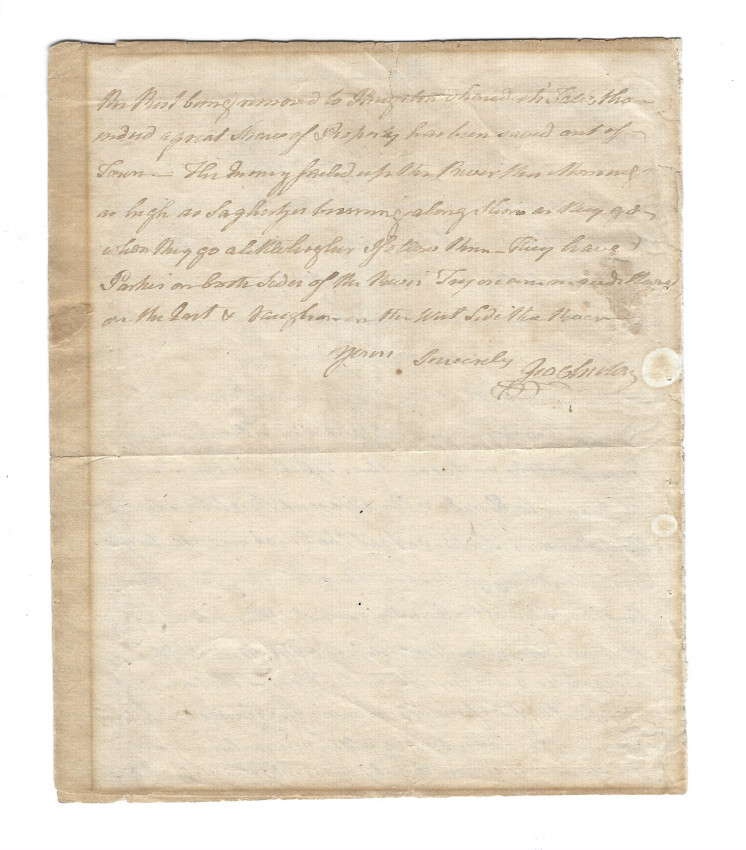 Lot 6 - KINGSTON. NY, burnt. - George CLINTON, First Governor of New York State. Autograph Letter Signed,
