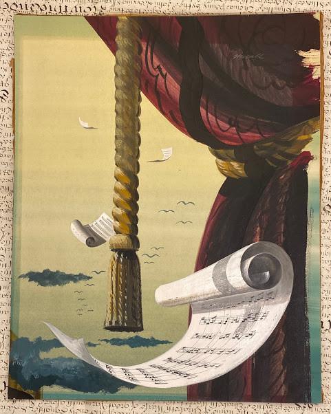 Lot 55 - Robert ƒ??Bobƒ?? Theodore MCCALL (1919-2010) [The Music Room windows], a pair of original paintings,