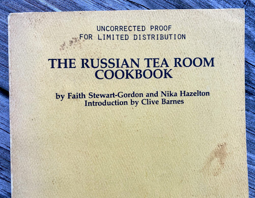 Lot 45 - Faith STEWART-GORDON and Nika HAZELTON The Russian Tea Room Cookbook ƒ?? Introduction by Clive