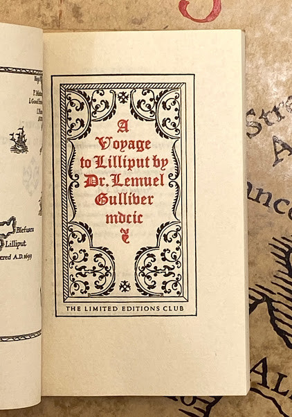 Lot 44 - Bruce ROGERS (designer). - Jonathan SWIFT. A Voyage to Lilliputƒ?? [and]; A Voyage to Brobdingnag by
