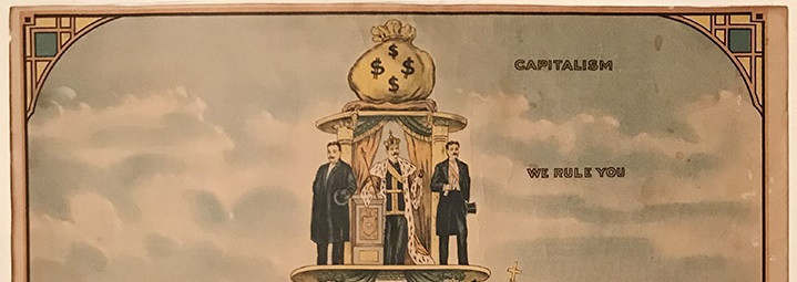 Lot 2 - Anti-Capitalism Poster. - [after Nicolaus LOKHOFF (1872ƒ??1948)] Pyramid of Capitalist System, 1911.