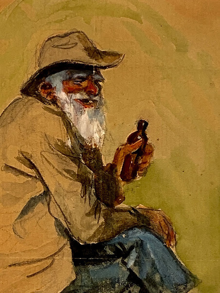 Lot 60 - James Montgomery FLAGG (1877-1960, artist). Original character study of a bearded African American