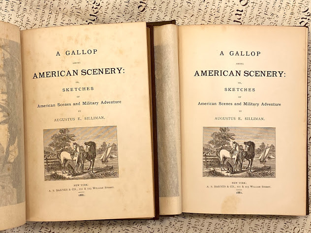 Lot 36 - Augustus Ely SILLIMAN (1808-1884). A Gallop Among American Scenery: Or, Sketches of American