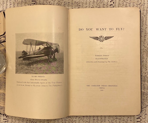 Lot 51 - Harrison FORMAN (1904-1978) Do You Want to Fly ? By Harrison Forman illustrated (Sketches and