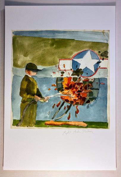 Lot 14 - Robert Andrew PARKER (b.1927). - Randall JARRELL. 8 watercolor studies for engravings to accompany