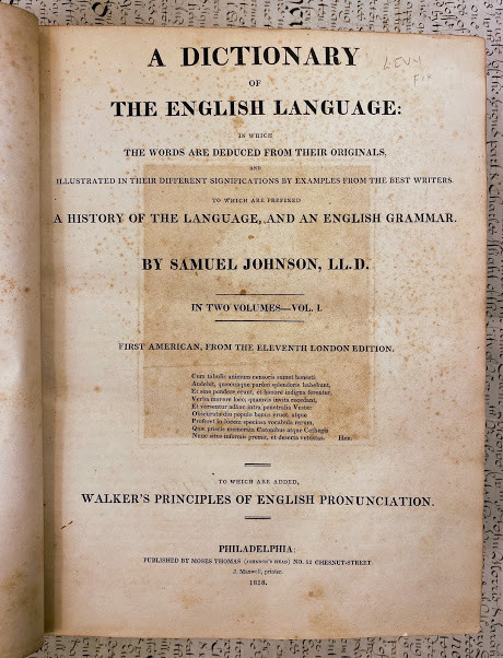 Lot 38 - Samuel JOHNSON (1709-1784). A Dictionary of the English Language: in Which the Words are Deduced