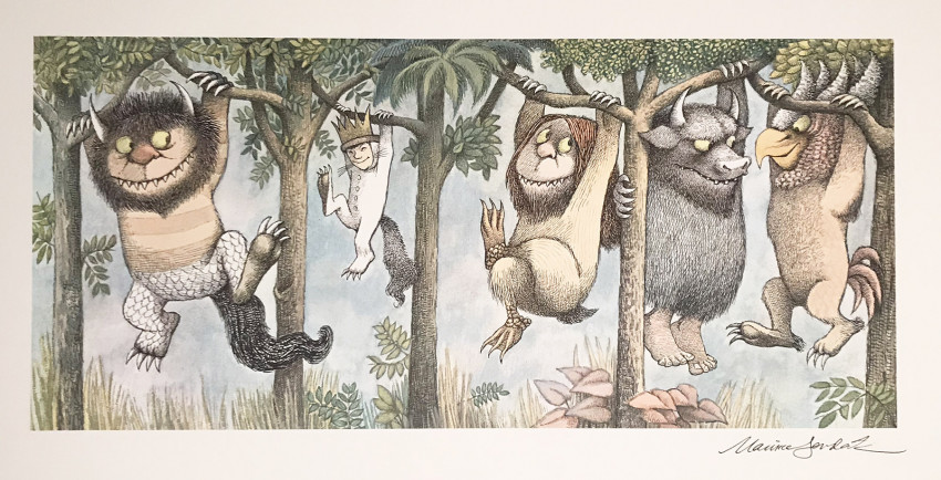 Lot 5 - Maurice SENDAK (1928-2012). Where The Wild Things Are. Complete Set of 4 Fine Art Color Prints