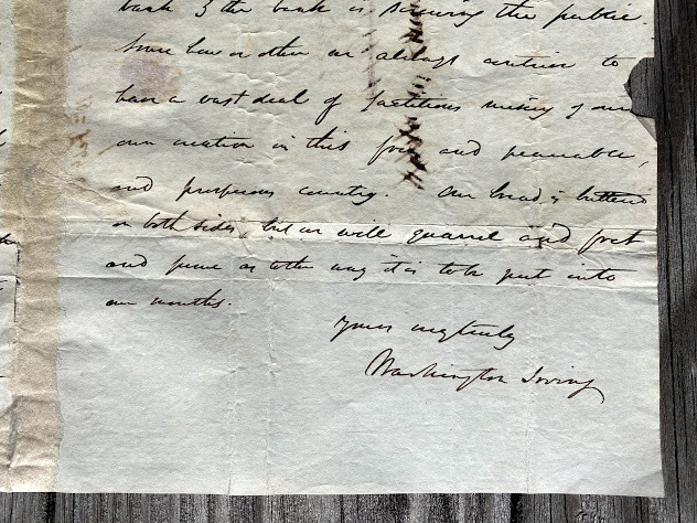 Lot 1 - President Andrew JACKSON. - Washington IRVING A 3pp. Autograph Letter Signed, New York, Feb 19th