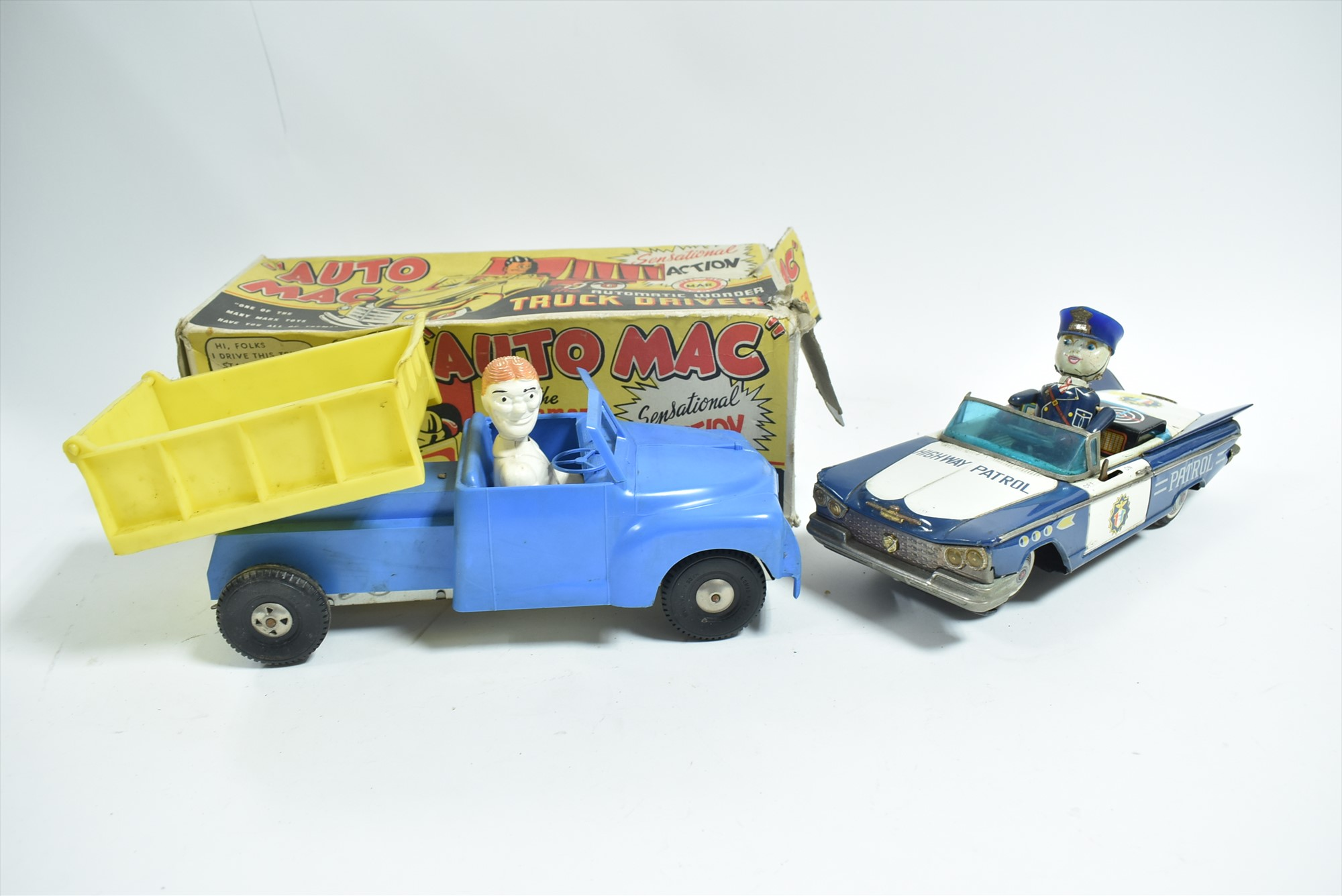 Lot 285 - Marx Auto Mac and tinplate Police car