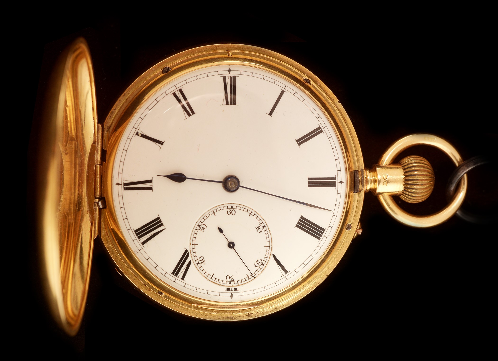 Lot 2 - 18k gold hunter pocket watch