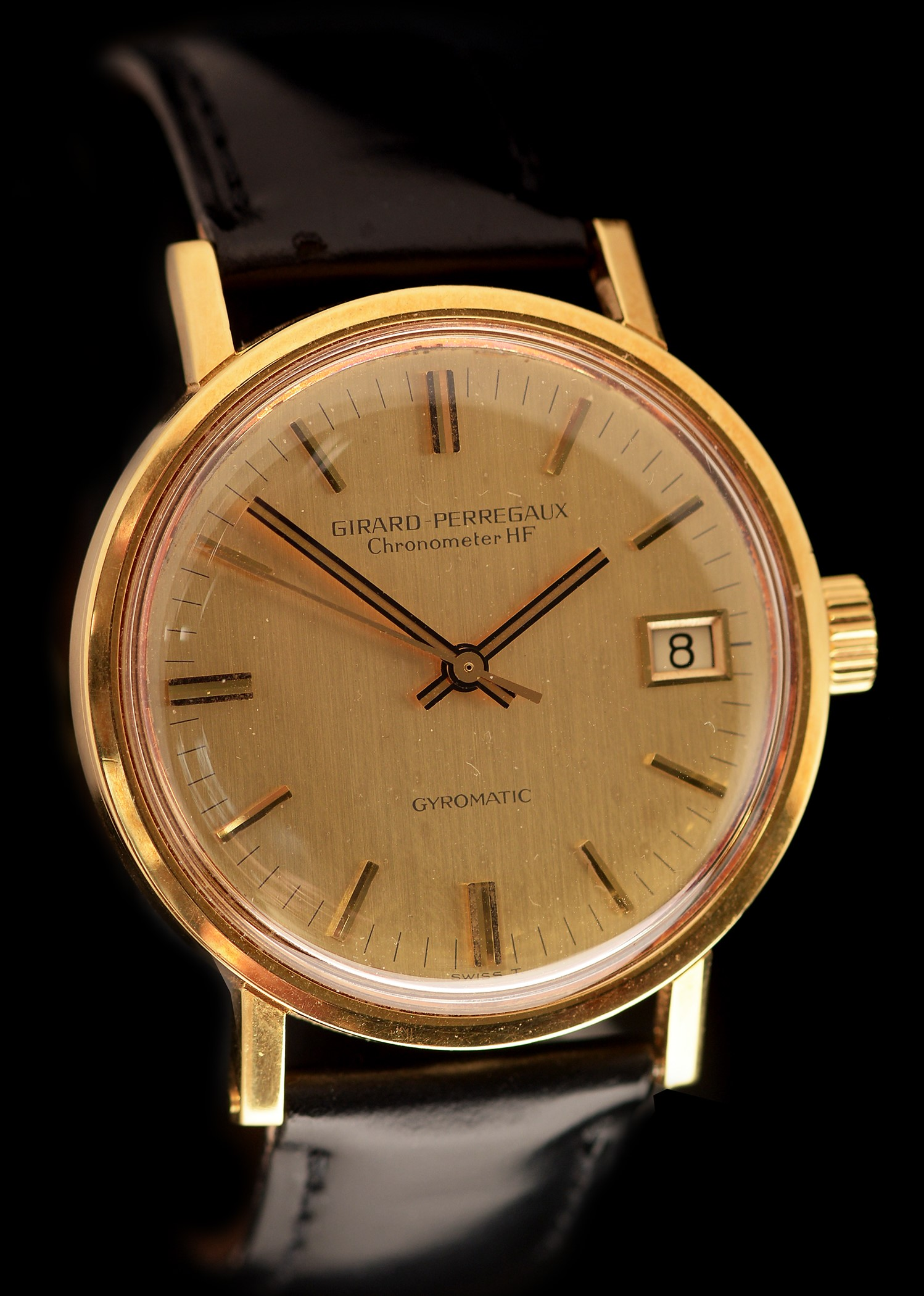 Lot 29 - 18k gold Girard Perregaux Gyromatic Chronometer HF