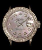 Rolex ladies datejust diamond watch