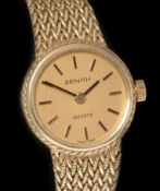 Zenith 14k gold lady's cocktail watch