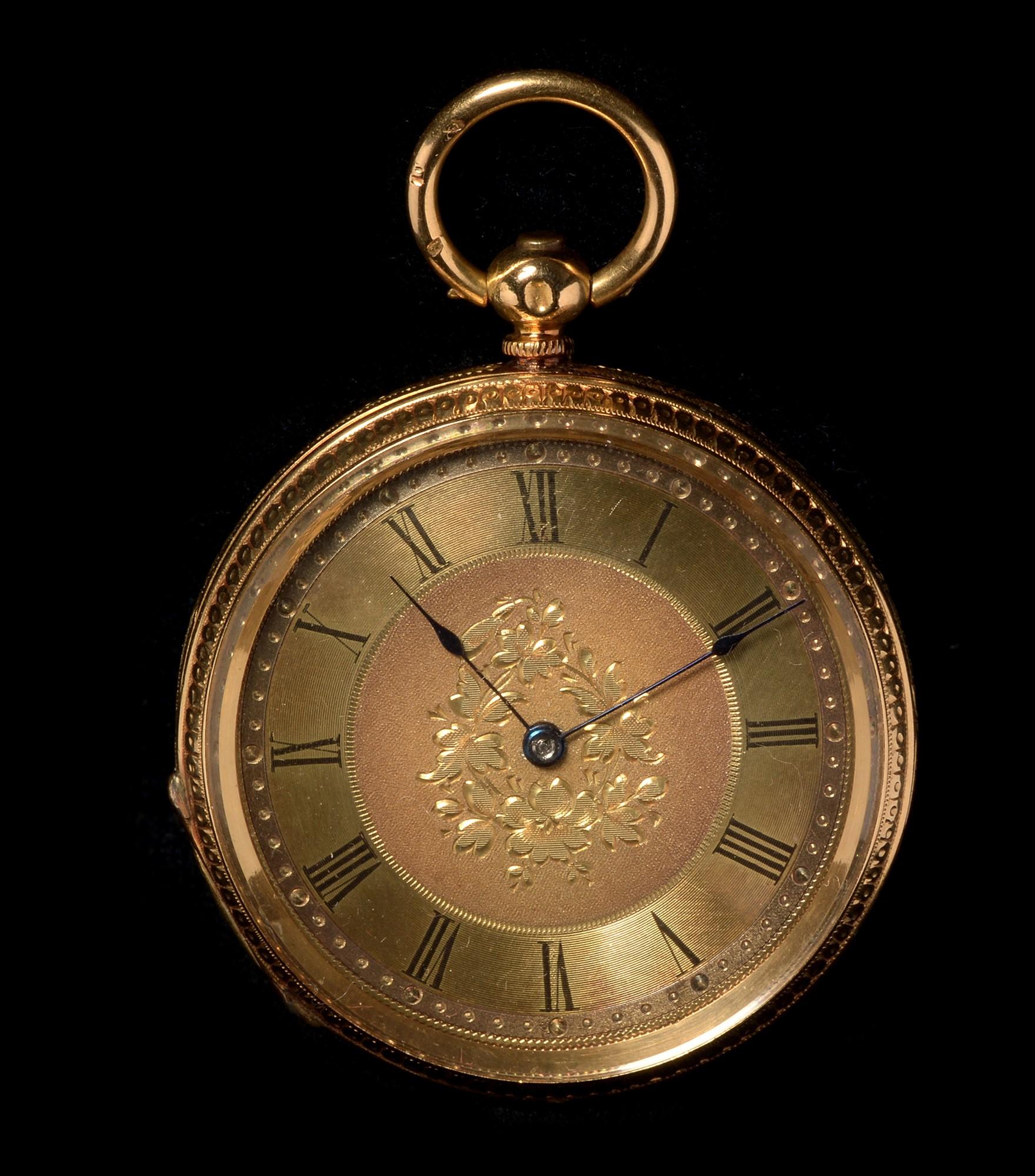 Lot 9 - 18ct gold pocket watch
