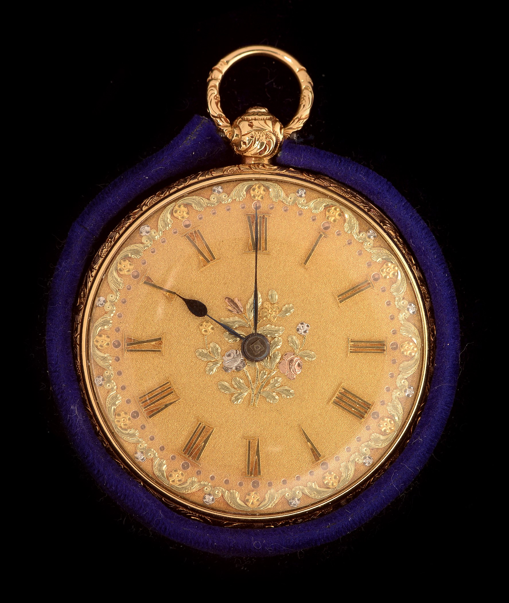 Lot 30 - 18k gold lady's pocket watch