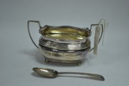 A Georgian silver two handled sugar bowl