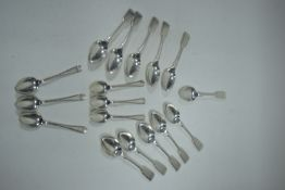 Silver tea and coffee spoons