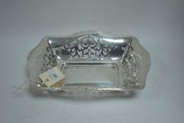 Pierced silver dish