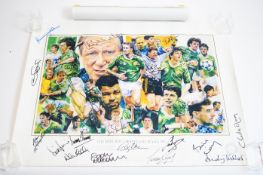 Republic of Ireland Italia 90 poster; and another of Gary Lineker.