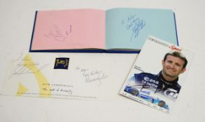 An autograph book, mainly footballers.