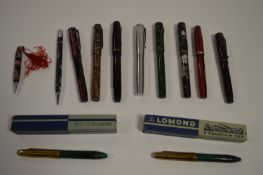 A selection of fountain pens