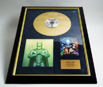 A framed presentation DVD Gold Disc 'Batman & Robin', personally signed by George Clooney, a