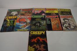 Creepy by Warren, No's. 2, 9, 12, 16, 18, 19, 20, 24, 28, 29 and 32.