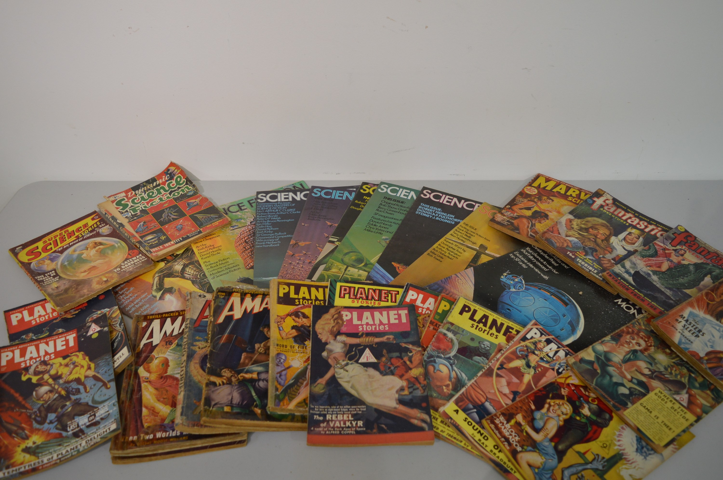 Sci-Fi pulp magazines; and New English Library Science Fiction Monthly.