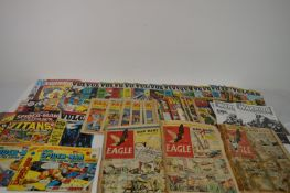 British Comics: Valliant and TV21; Mighty World of Marvel; and others.