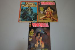 Vampirella; and Warren Presents: Ring of the Warlords.