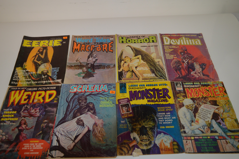 Quasimodo's Monster Magazine; and other horror magazines.